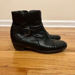 Clarks genuine leather ankle boots